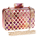 Chain Shoulder Day Clutches Flower Hollow Out Evening Bags Mixed Color For Wedding Handbags Tin Summer Bag