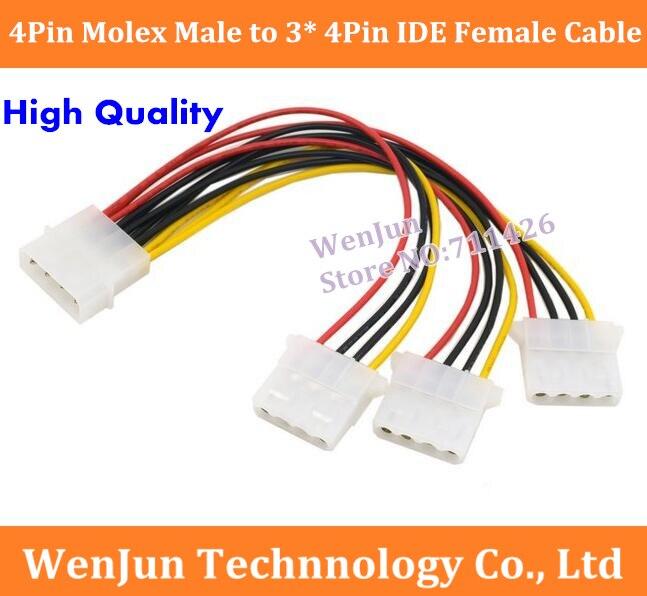 20pcs PC Molex 4P IDE Terminal Pin Male