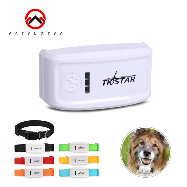 Mini GPS Tracker For Dog TKSTAR Pet Products 400Hours Stanby TK909 GPS Locator Remotely Voice Monitor SOS Software Free Tracking