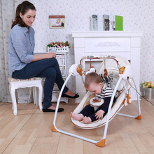 2016 Multifunctional baby rocking chair cradle baby chair reassure the rocking chair chaise lounge electric Free Shipping