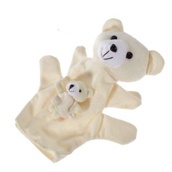 2018 New Beige Bear Hand Puppet Finger Puppets