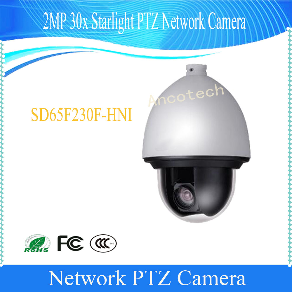 DAHUA Security IP Camera Outdoor Camera 2MP Full HD 30x WDR Starlight Network PTZ Dome Camera IP67 without Logo SD65F230F-HNI dahua full hd 30x ptz dome camera 1080p