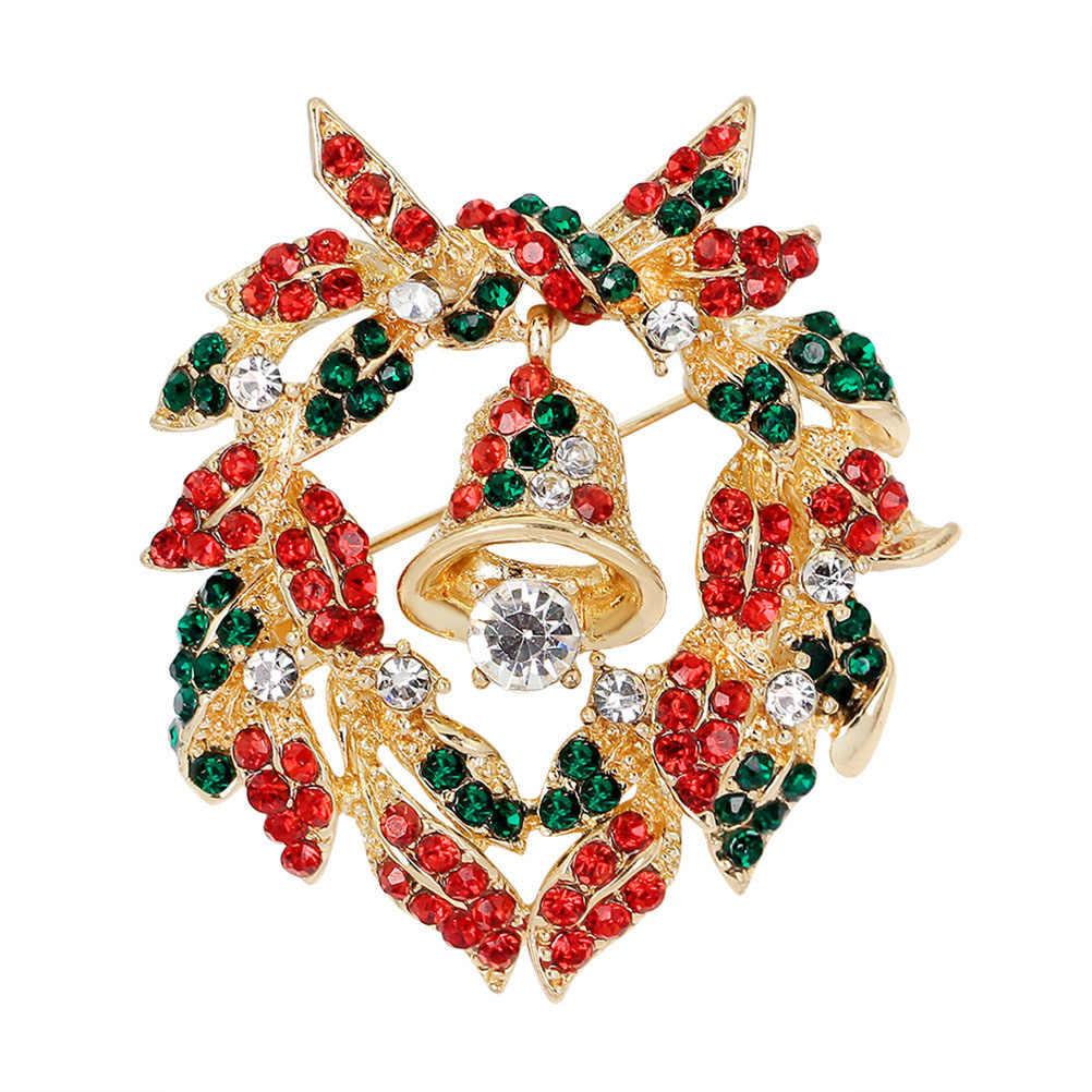 Fashion Yang Indah Tahun Baru Natal Boots Bros Santa Claus Sepatu Kereta Berlian Imitasi Bros Perhiasan