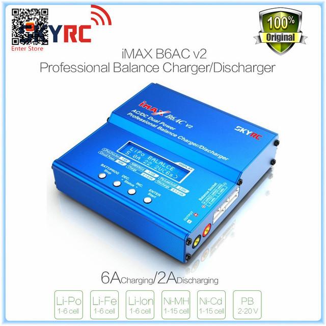 Repuesto SKYRC iMAX B6AC 6A Cargador Del Balance de Máximo 50 W de potencia de carga V2 Pantalla LCD Descargador para RC Aviones Multirotor batería