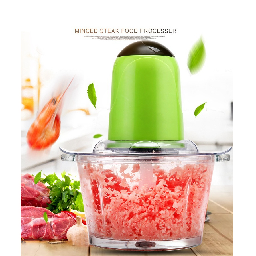 HIMOSKWA Multifunctional Electric Automatic Meat Grinder Household Meat Mincer Mashed Garlic Machine High Quality Glass electric automatic meat grinder household mincer