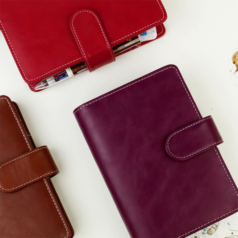 Image 3 - 2017 Vintage Leather Notebook A5 A6 Retro PU Notebook Dairy Personal Planner Agenda with 25mm Dia Ring Office & School Supplies-in Notebooks from Office & School Supplies