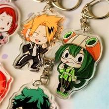 Anime mon héros académique Boku pas de héros académique porte-clés acrylique porte-clés porte-clés pendentifs