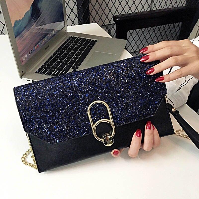 Female Clutch Diamante Ladies Evening Handbag Vintage Chain Wallet Party Envelope Phone Bag Bolsa Feminina in Shoulder Bags from Luggage Bags