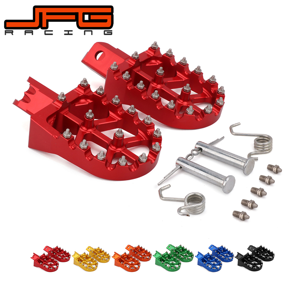 Motorcycle Universal CNC Colorful Footpeg Footrest Foot Pegs For HONDA CRF XR 50 70 110 M2R SDG DHZ SSR KAYO Pit BikeMotorcycle Universal CNC Colorful Footpeg Footrest Foot Pegs For HONDA CRF XR 50 70 110 M2R SDG DHZ SSR KAYO Pit Bike