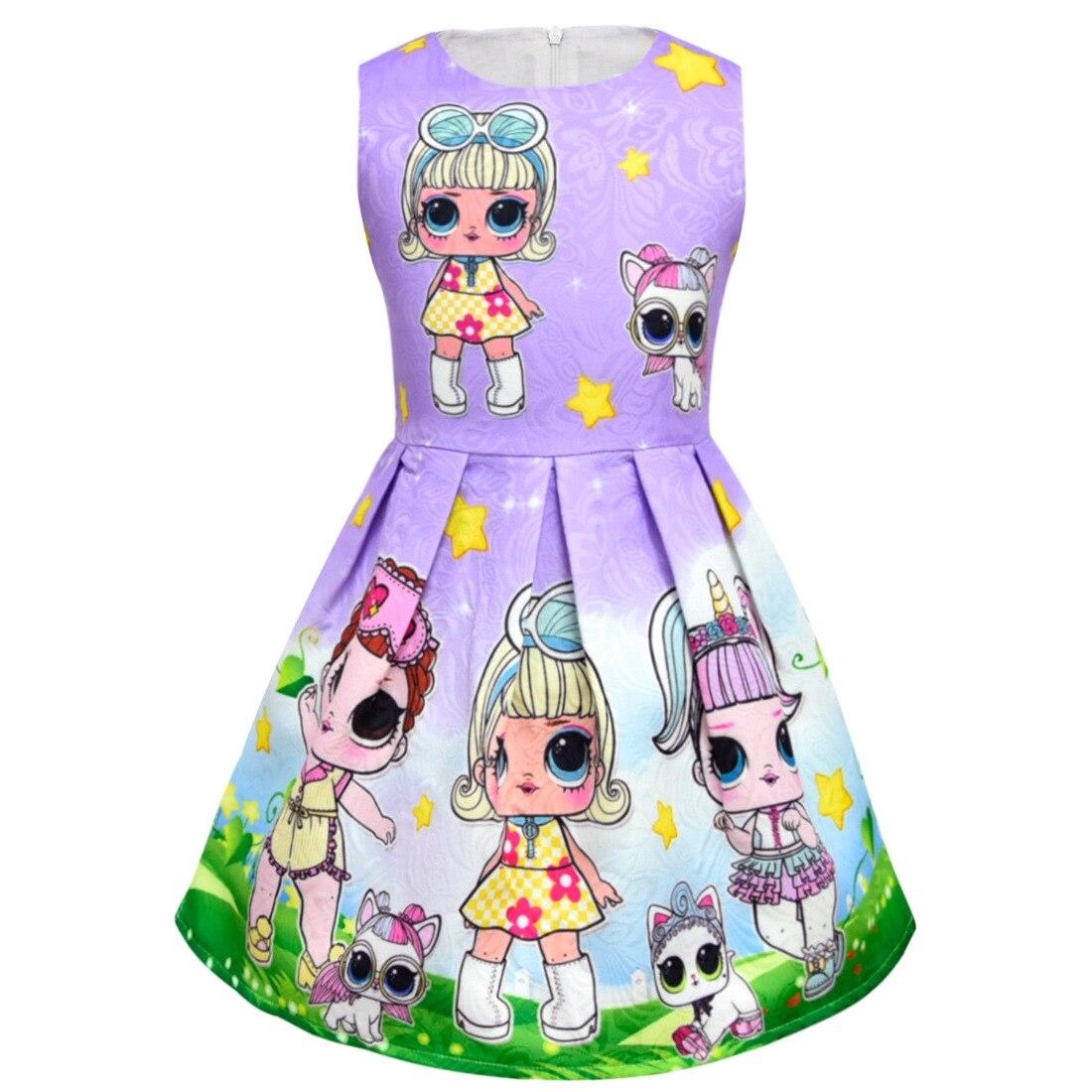 baby Girls Princess Birthday Party Ruffle vest Kids Dresses For LOL Surprise Dolls Tutu Dress For Girls Summer Dress Wedding все цены