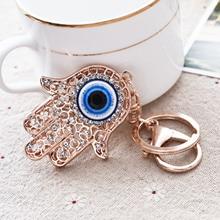 Women's Hamsa Evil Eye Key Chain Key Ring
