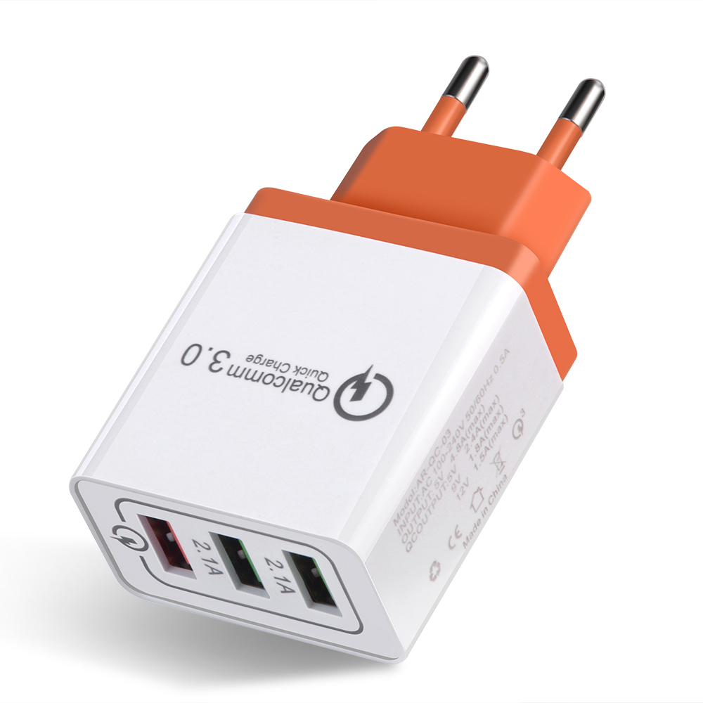 Proelio Quick Charge 3.0 USB Charger EU Travel Wall Adapter Mobile Phon