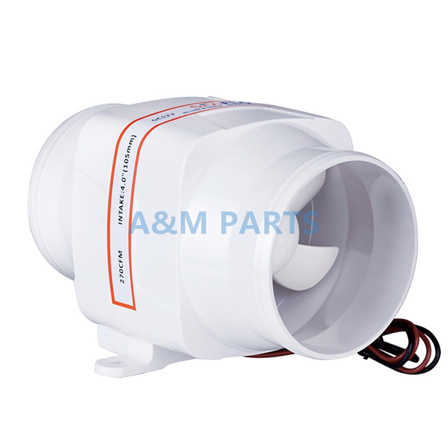 Boat Inline Bilge Blower Fan 12V 270 CFM Marine Galley Engine VentilationBoat Inline Bilge Blower Fan 12V 270 CFM Marine Galley Engine Ventilation