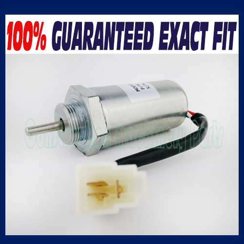 Fuel Shut off Solenoid 8972091152 24V for Isuzu Engine 4LE2 for Hitachi Excavator new water pump for hitachi excavator ex120 2 for isuzu engine 4bd1