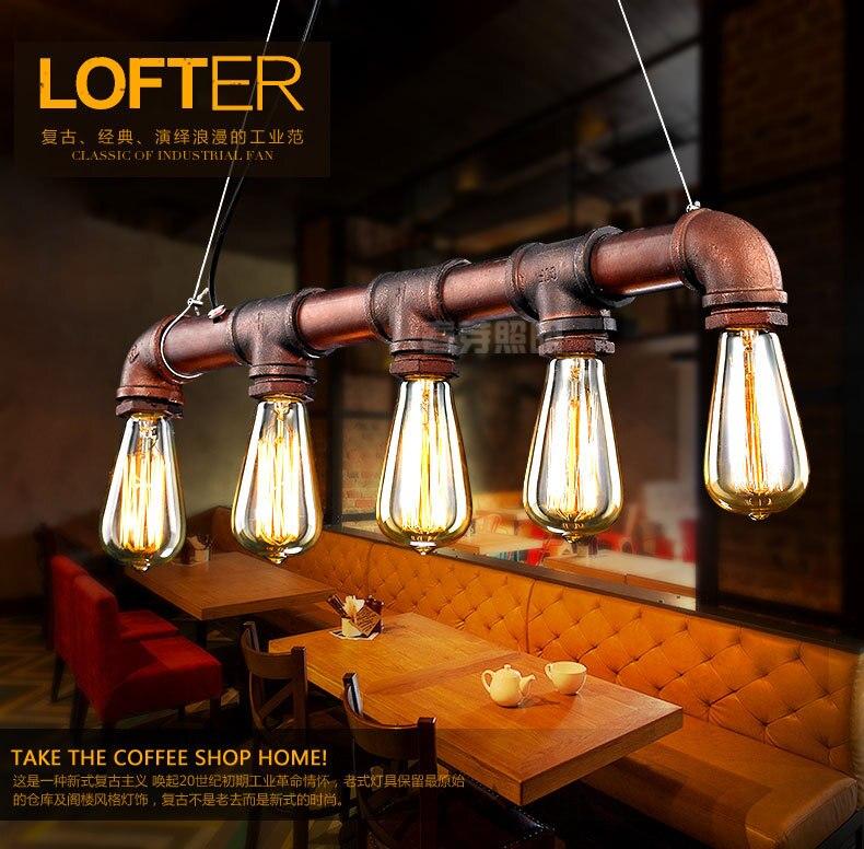 где купить Nordic American countryside minimalist designer industrial pipe Loft restaurant bar entrance pendant lamp Chandelier Lighting по лучшей цене