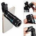 Teléfono móvil Lente de 12X de Zoom de Teleobjetivo Lentes Lente de La Cámara Del Telescopio Con clip para iphone 7 6 6 s xiaomi huawei samsung smartphone