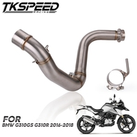 Motorcycle Stainless Steel Exhaust Link Pipe Connect Mid Middle Pipe Slip On Pipe For BMW G310GS G310R
