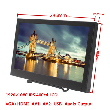 Wearson 11.6 inch 1920x1080 IPS Portable LCD Monitor with VGA HDMI for Build in Vehicle Aeromodelling FPV PS3 PS4 etc monitor portátil hdmi ps4