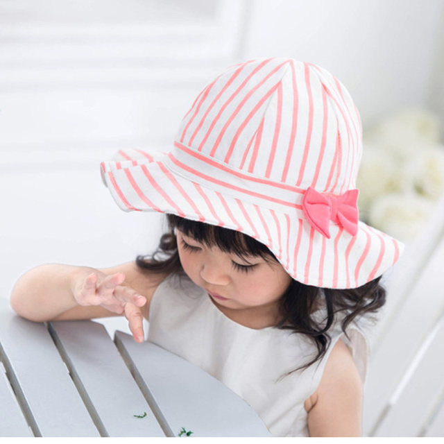 2017 Toddler Infant Sun Hat Baby Cap Newborn Photography Props Spring Summer  Outdoor Wide Brim Baby Girl Hat Beach Bucket Hat 72c42e46d31a