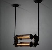 Vintage Industrial Pantalla Cubierta Guardia Birdcage 4*40 W Luz Retro Colgante con Diseño de Estilo Loft Bar Luz Columpio