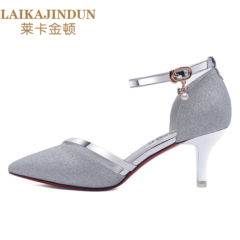 Zapatos Cm Heightl Marca Sólido 6332 5 5 Laikajindun Ocio plata Bombas Dulce 2017 Mujeres Señora Niñas De Talón Oro Causal gdqnAAv0z