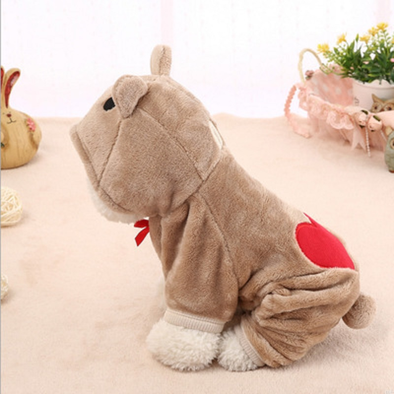 Pet Clothes Dog Cotton Hoodies Spring Autumn Leisure Tang Suit for Small Medium Dog Winter Hoody Cat Puppy5 Colors XS-XL