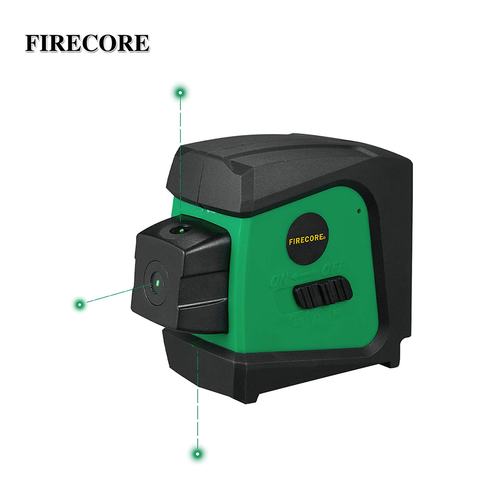 FIRECORE F333G Green Laser Level 3 Point Alignment Laser Spot With Self Leveling