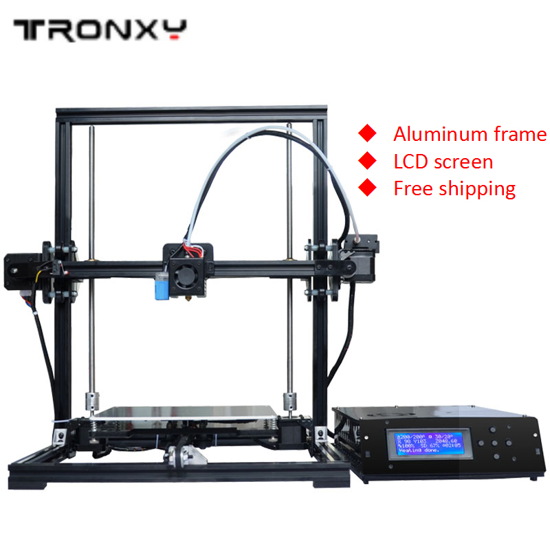 Free ship Newest 3D printer support auto leveling full Aluminum frame colorful industrial grade high precision