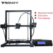 Бесплатная доставка Новые 3D принтер поддерживает автоматическое выравнивание полный алюминиевая рама красочные промышленного класса Высокая точность очень доступным