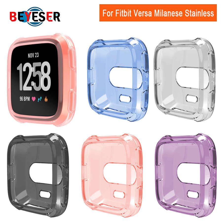 Ultra-sottile Morbido Placcatura Copertura di Caso di TPU Per Fitbit Versa 2 Protezione Completa Del Silicone Custodie dispositivi indossabili Smartwatch Protezione