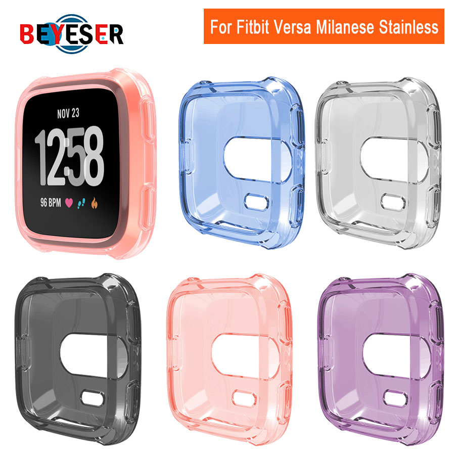 Ultra-thin Soft Plating TPU Case Cover For Fitbit Versa Full Protection Silicone Cases Wearable Devices Smartwatch Protector
