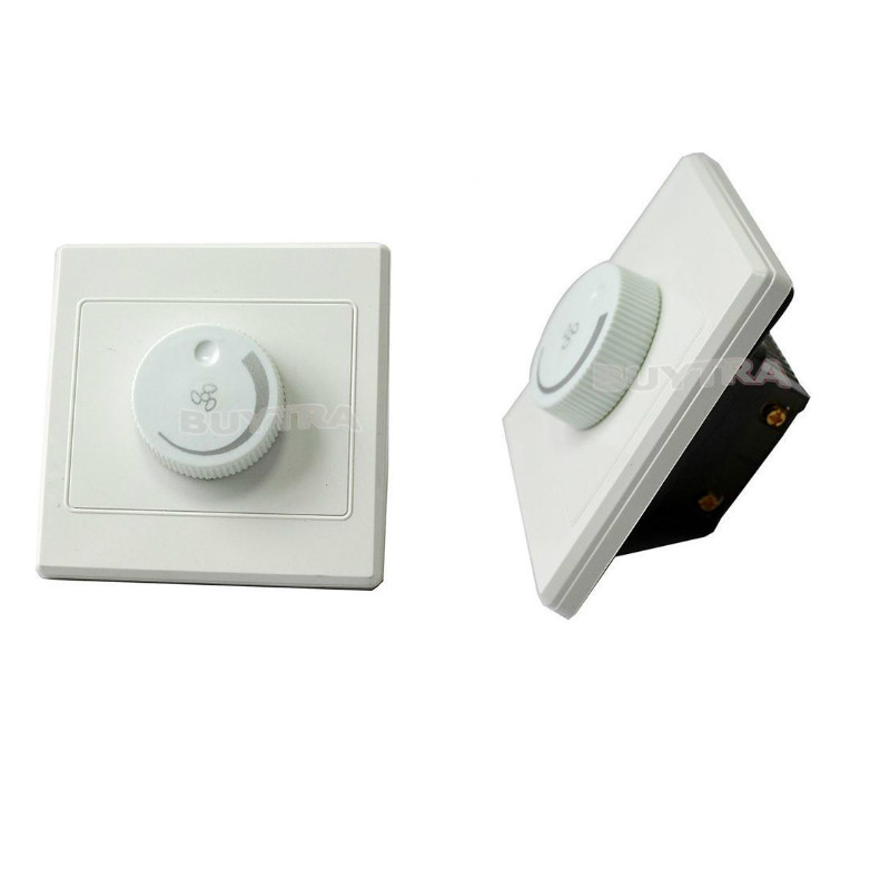 220V 10A Dimmer Light Switch Adjustment Lighting Control Ceiling Fan Speed Control Switch Wall Button Dimmer Switch