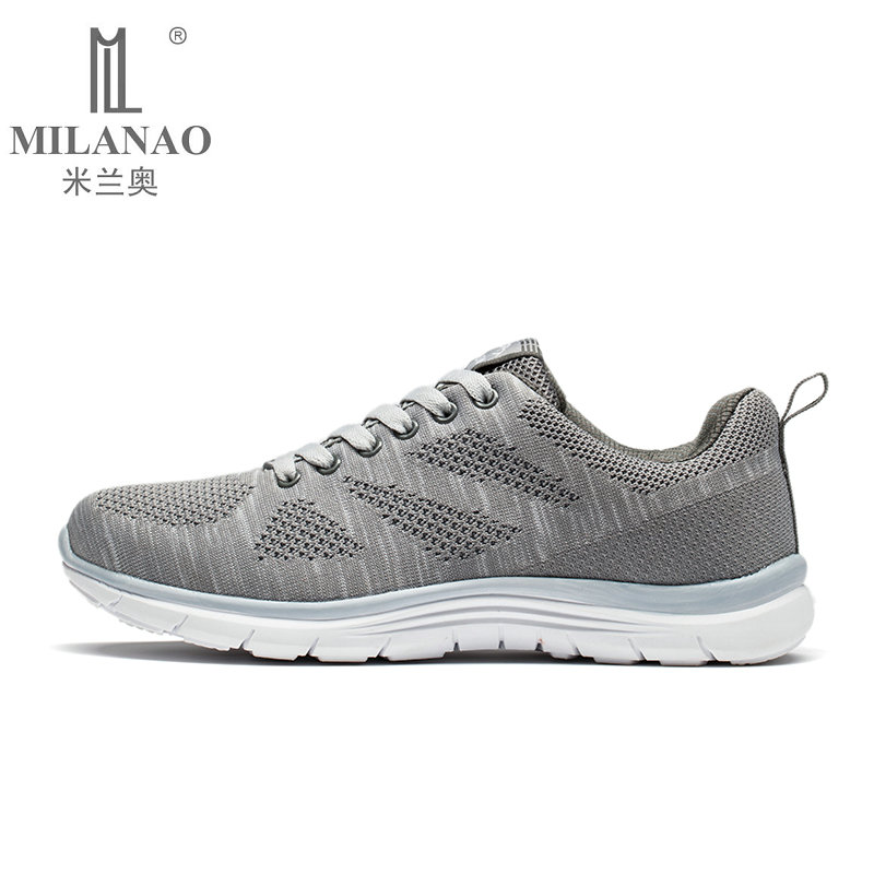 2019 MILANAO New Men Summer Casual Flyknit Racer Walking Shoes For Man & Women Breathable Sneakers Men's Krasovki zapatillas-in Men's Casual Shoes from Shoes    2