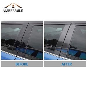 Image 5 - AMBERMILE for Mini Cooper F55 Countryman F60 Clubman F54 Accessories Carbon Fiber B Pillar Cover Trim Window Protection Stickers