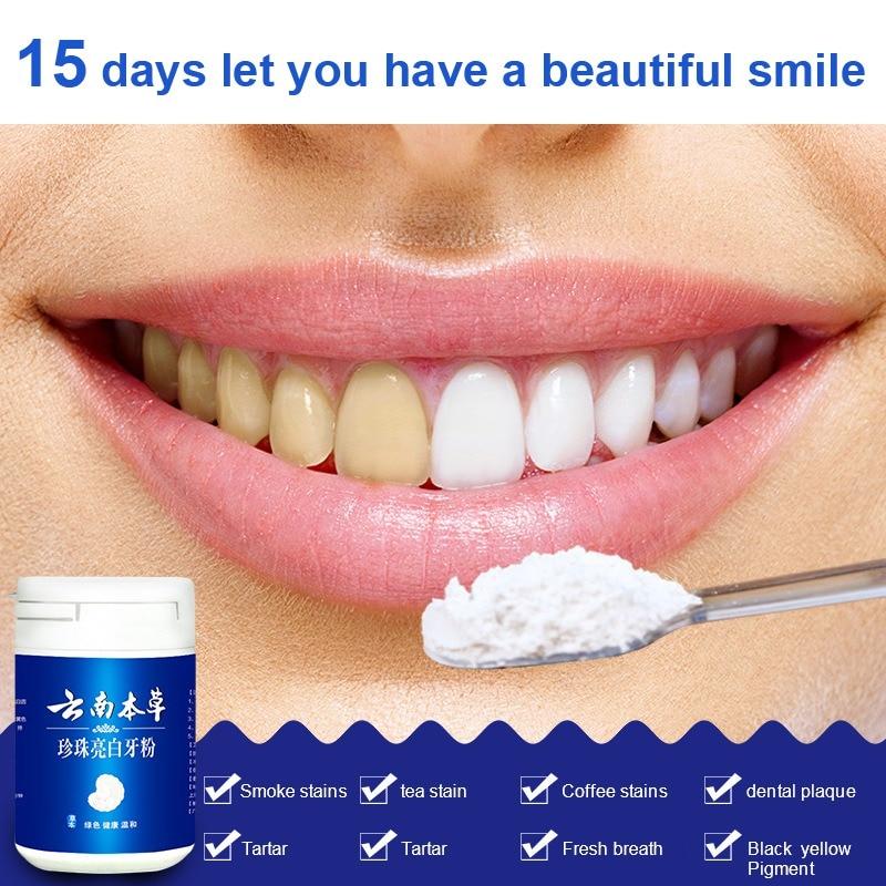 Natural Pearl Tooth Powder Physical Whitener Detoxifying & Whitening Tooth Powder Chinese Medicine Magic