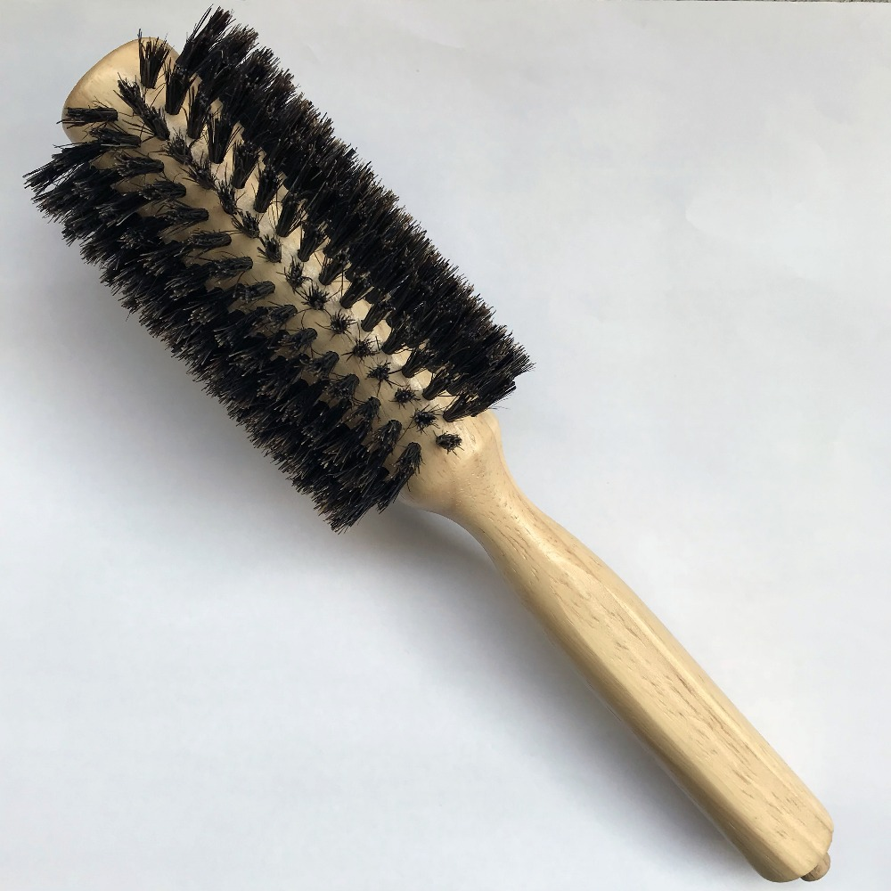 straight line Curly Hair Brush Comb log Wood Handle Pig Mane Hair Makeup brush Antistatic Detangling Massage Hairbrush Styling 1pc black natural sandalwood wood brush healthy care massage hair combs antistatic detangling airbag hairbrush hair styling tool