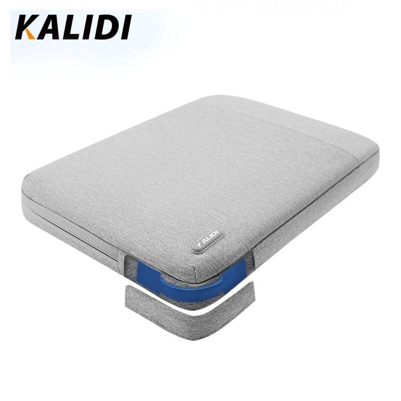 Kalidi bolsa para portátil manga 11.6 12 13.3 14 15.6 polegada notebook manga saco para macbook ar pro 13 15 dell asus hp acer caso do portátil