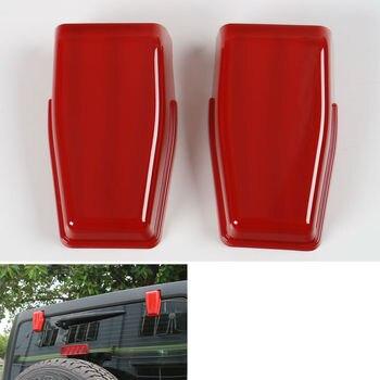 BBQ @ FUKA 2x Red Auto Hinten Schwanz Tür Tor Scharniere Scharnier Abdeckung Trim Fit Für Jeep Wrangler 2008-2016 auto zubehör