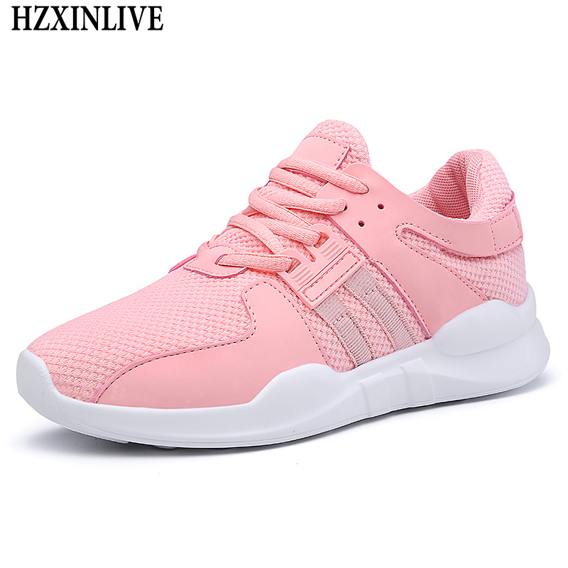 HZXINLIVE 2018 Flat Shoes Women Breathable White Sneakers for Women Ladies Casual Platform Female Fashion Summer Zapatos Mujer