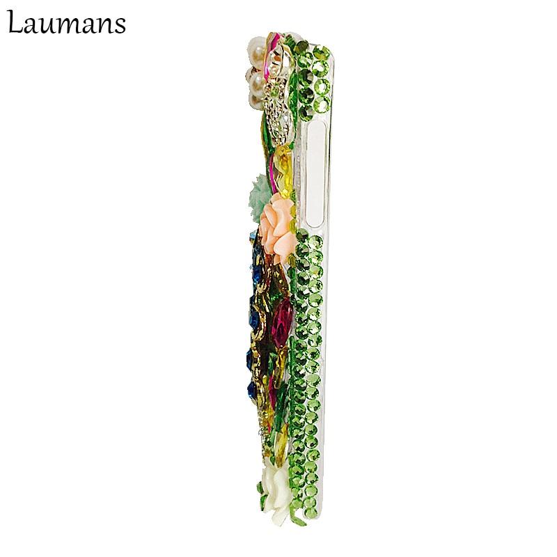 Laumans crystal rhinestone diamond phone case para samsung galaxy s6 edge duro La contraportada para S3 S4 S5 S7 borde NOTA 2 3 4 5