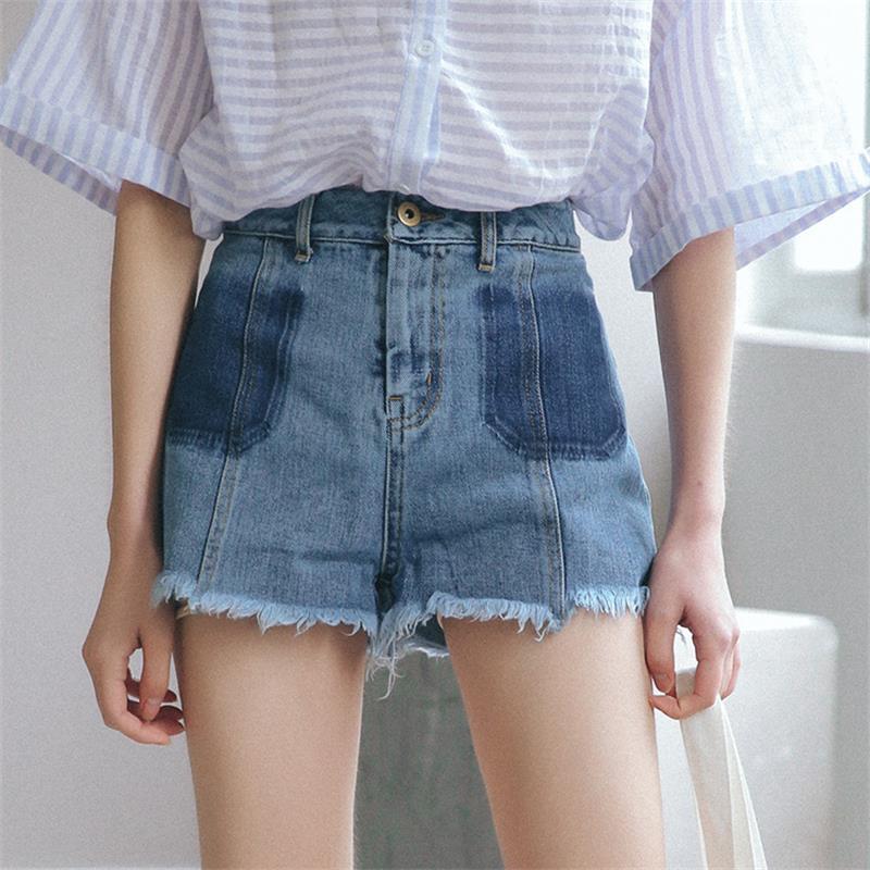 Summer New Wash Straight Slim Denim Shorts Women's Short