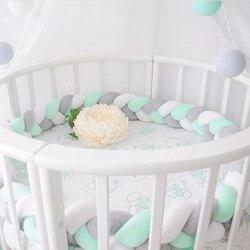 Minimalismo bebê cama pára-choques nó design recém-nascido berço almofada proteção berço pára-choques acessórios de cama para o quarto infantil decoração 1.5 m/2 m