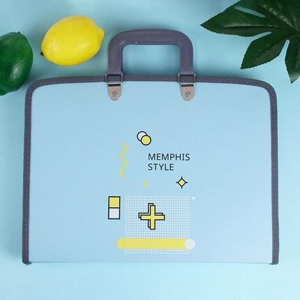 Fashion Portable 13 Pocket Folder Bag File Folder A4 Paper Organizer Document Bag Zipper Bag