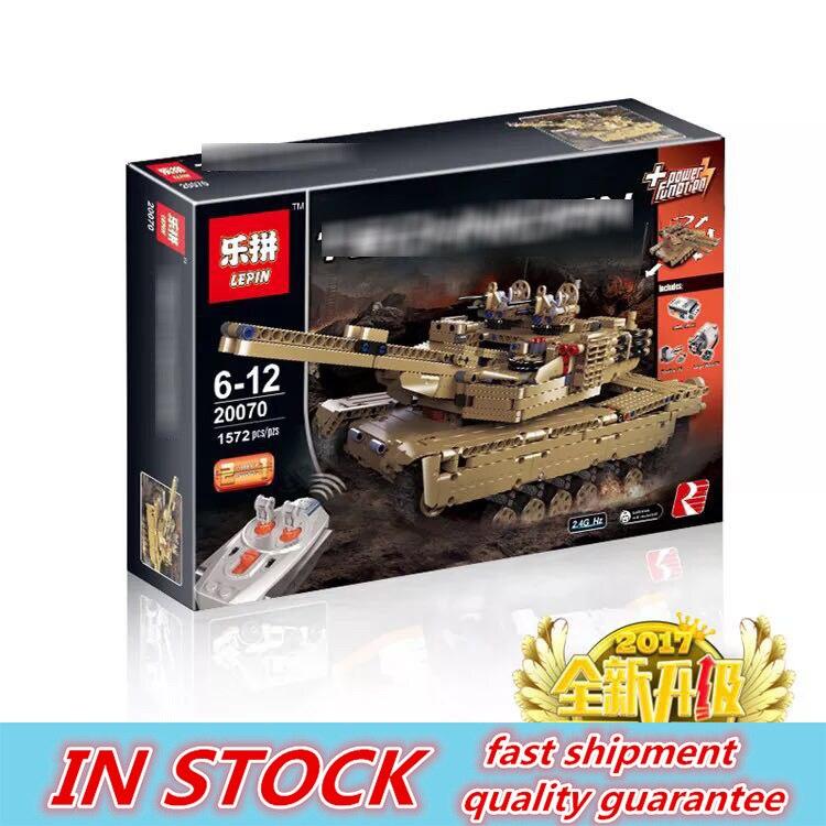 LEPIN technique Série 1572 pièces Militaire char radiocommandé 20070 Ensemble blocs de construction Briques Militaire Modèle Drôle D'anniversaire Cadeaux jouets pour garçon