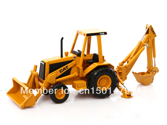1/32 Scale Norscot CATERPILLAR CAT 416 BACKHOE LOADER Metalldjup Byggfordon leksak