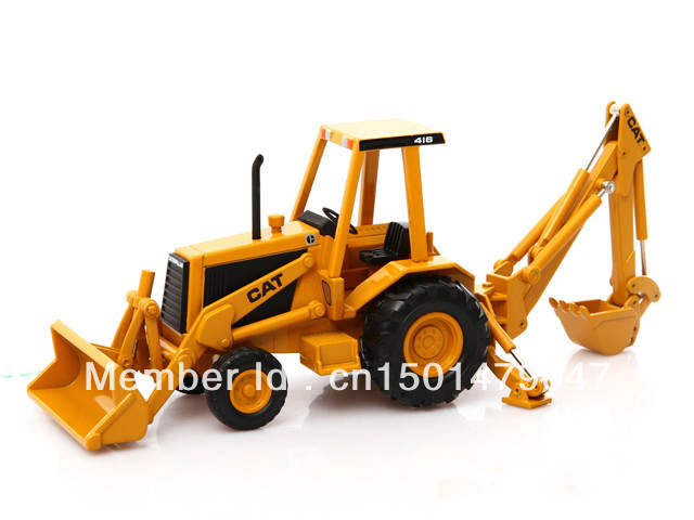 1/32 Scale Norscot CATERPILLAR CAT 416 BACKHOE LOADER Metal Diecast  Construction vehicles toy