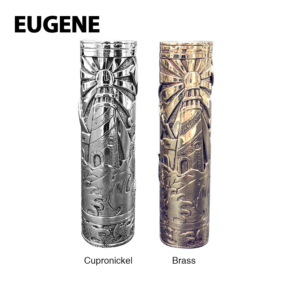 New EUGENE Lighthouse Manual Carving Mech MOD with High end Manual Carving Manual Mosaic Craftwork Vape