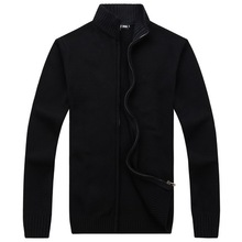 RICHARDROGER   New Arrives Autumn Winter Men's  Sweaters Clothes For Men Zipper Sweater Warm Knitwear Sweater 09