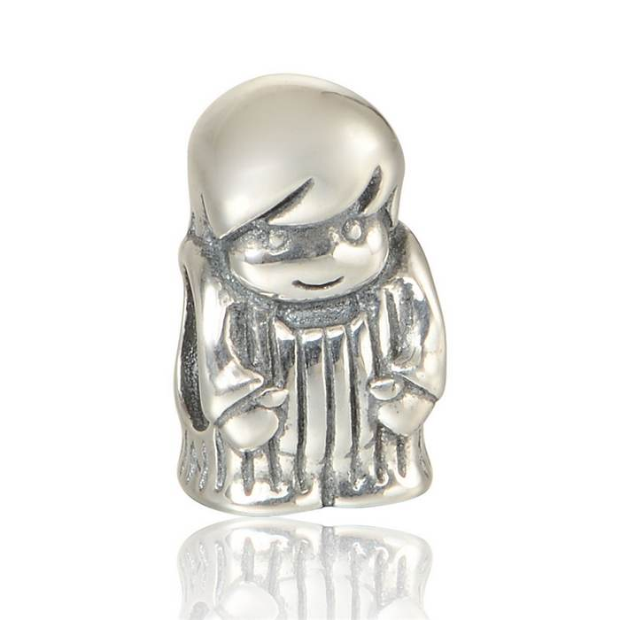 78475e91a 100% 925 Sterling Silver Baby Boy Charms Beads Fit European Style Thread  Troll Charm Bracelet Jewelry DIY LW563
