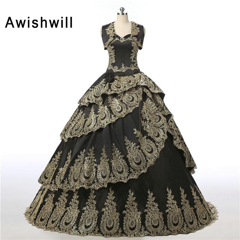 Custom Made Vintage Lungo Quinceanera Abiti Con Bolero Pizzo Raso Vestido Debuttante Dolce 16 Abiti Vestidos de 15 anos